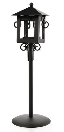 Black Candle Holder w/Stand *NEW