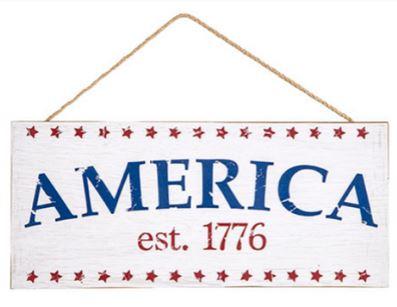 Patriotic Wooden Sign *NEW