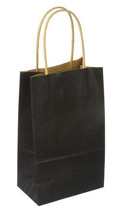 """Black Paper handle Bag (5.25x8.75x3.125"""") *NEW"""