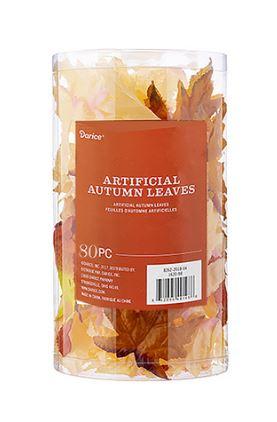 Orange/Rust Artificial Maple Leaves (80pc) *NEW