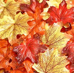 Orange Mix Artificial Maple Leaves *NEW