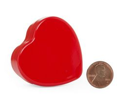"""Red Heart Candle Tin (3x2-1/2x1"""") *NEW"""