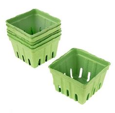 Green Paper Baskets (6pc)