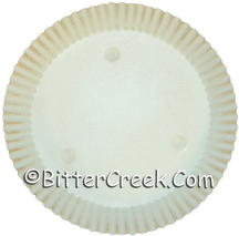 "8"" Round Cream w/Rust Candle Plate"
