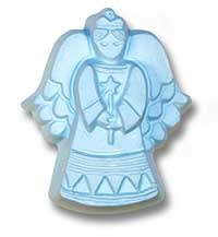 Angel 2 Soap Mold 3 Cavity