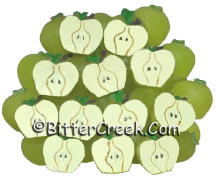 Green Apple Halves Wax Embeds