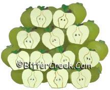 Green Apple Halves Wax Embeds