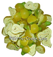 Pear Halves Wax Embeds