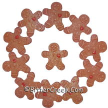 Gingerbread Man Wax Embeds