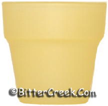Flower Pot Votive Yellow (Case of 36) *Surplus