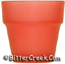 Flower Pot Votive Red (Case of 36)