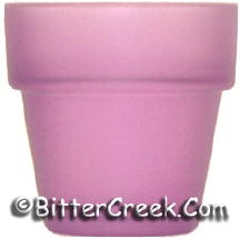 Flower Pot Votive Purple (Case of 36) *Surplus