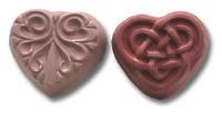 2 Hearts Soap Mold 5 Cavity