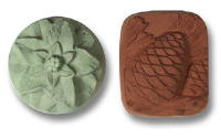 Poinsettia & Pinecones Soap Mold 5 Cavity
