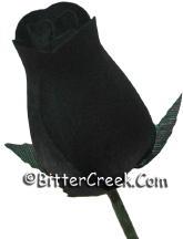 Gothic Black Wood Roses