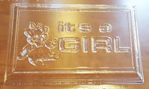 It's A Girl Embed/Tart Mold (8 Cavity)