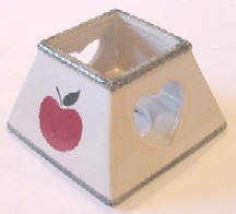 Apple Square Votive Shade (Case of 36) *Clearance