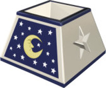 Moon & Stars Square Votive Shade (Case of 36) *Clearance