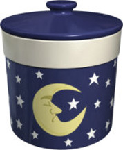 Moon & Stars Large Crock With Lid (Case of 12) *Clearance