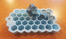 Mini Hex Wax Melt Tray (blue)