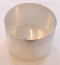 "5"" x 3.5"" Round Seamless Aluminum Pillar Mold (3 Wick)"