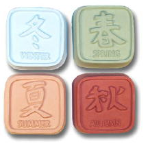 Feng Shui Soap Mold 4 Cavity