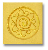 Spiral Flower Soap Stamp