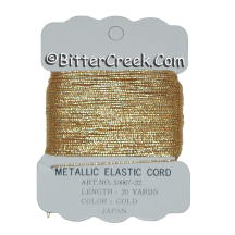 Gold Metallic Elastic Cord