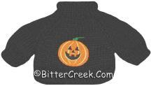 Black Pumpkin Bear Sweater