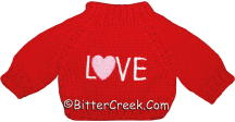 Red LOVE Bear Sweater