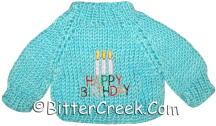 Happy Birthday Bear Sweater