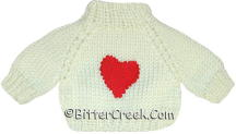 White Heart Bear Sweater