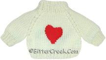 White Heart Bear Sweater