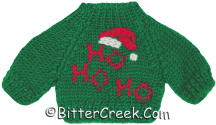 Green Ho Ho Ho Bear Sweater