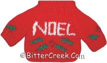 Red Noel Bear Sweater