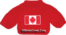 Canadian Flag Bear Sweater