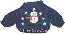 Navy Snowman Flakes Bear Sweater