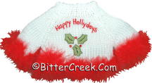 White Happy Holidays Bear Sweater