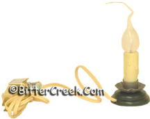"2.5"" Country Candle Lamp w/Bulb"