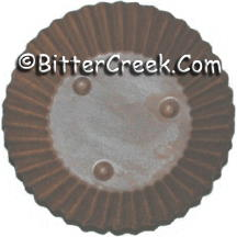 "3.25"" Rnd Rusted Candle Plate"