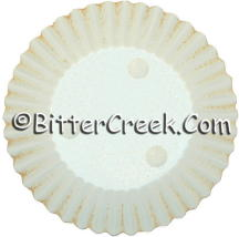 "3.25"" Round Cream w/Rust Candle Plate"