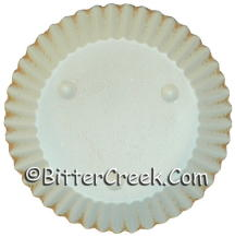 """5"""" Round Cream w/Rust Candle Plate"""