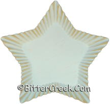 """8"""" Star Antique White Candle Plate"""