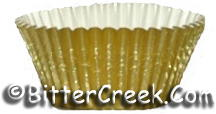 48 Gold Mini Foil Liners