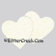 Double Heart Air Freshener Blank