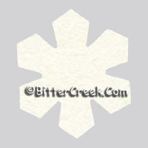 Snowflake Air Freshener Blank
