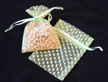 "3"" x 4"" Apple Green Polka Dot Organza Bags"