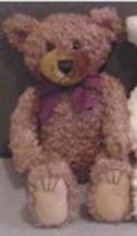 Brown Short Hair Bears (plain burgundy bow)