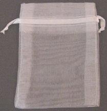 "3"" x 4"" White Organza Bags"