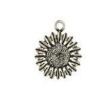 Sunflower Pewter Candle Charm